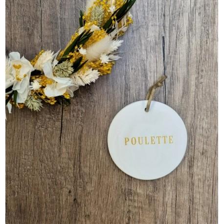 Médaillon Poulette doré
