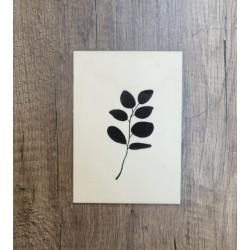 Affiche en bois A4 Eucalyptus noir