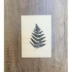 Carte en bois Fougère noire