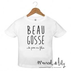"T-shirt ""Beau gosse"" - 3/4 ans"