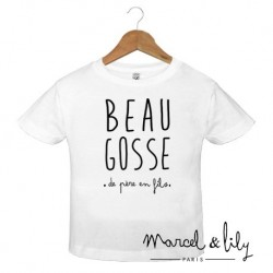 "T-shirt ""Beau gosse"" - 5/6 ans"