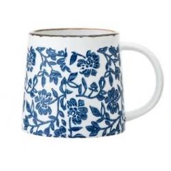 Tasse Molly - Fleurs sur fond bleu