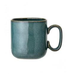 Mug carré en terre cuite Aime - turquoise