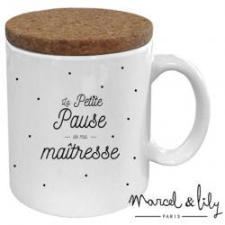 Mug avec couvercle Pause de ma maîtresse