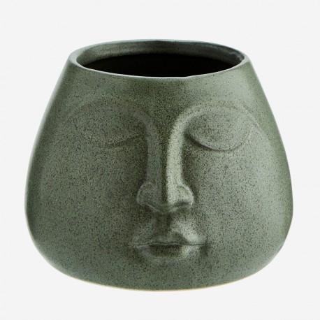 Pot moyen Budha vert