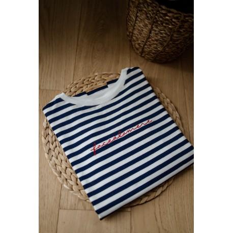T-shirt d'allaitement zip Face à la mère - Taille M
