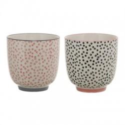 """Duo de tasses coloris pastel """"Cécile"""""""