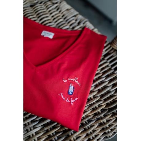T-shirt d'allaitement Zip Le meilleur... Taille S