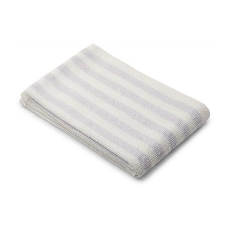 Grande serviette Nid d'abeille light lavender