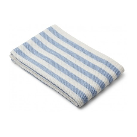 Grande serviette Nid d'abeille sky blue