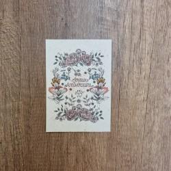 Carte à planter anniv fleuri