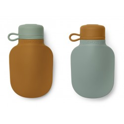 Duo de gourde à smoothie - Moutard/peppermint