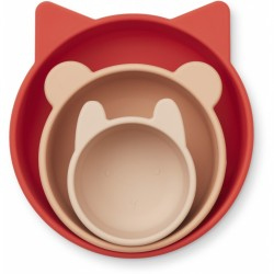 Lot de 3 Eddie bowls - Apple red/rose multi mix