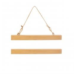 Suspensions bambou pour affiche A4