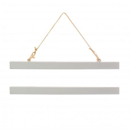 Suspensions grises pour affiche A3