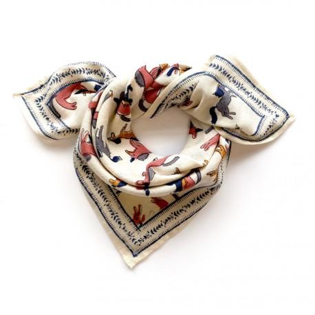 Baby foulard manika Licorne - Sahara