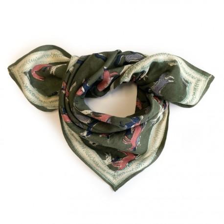 Baby foulard manika Licorne - Kaki