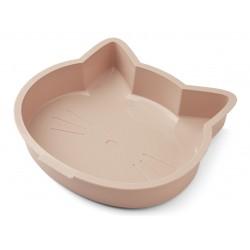Moule à gâteau en silicone - Chat rose