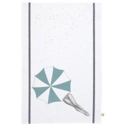 Torchon Rita sous son parasol