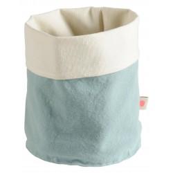 """Corbeille en tissu """"bleu Iode"""" petit format"""