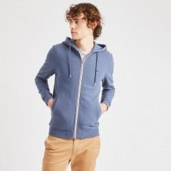 Veste en molleton bleu grisé - Taille L