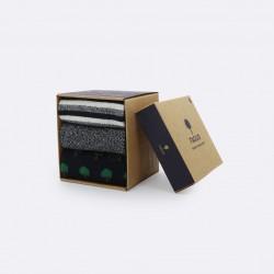 Trio de chaussettes arbres/rayures/chiné - 42/45