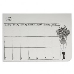 Weekly planner Flower girl