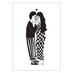 Affiche A4 Secret kissers