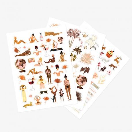 Feuilles de stickers Women's world