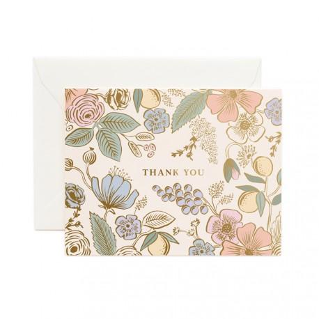 Carte double Colette thank you