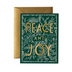 Carte double evergreen peace