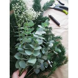 Couronne de Noël en végétaux