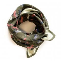 Big foulard Latika Licorne - kaki