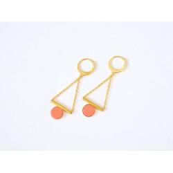 Boucles d'oreille Gallica - Corail