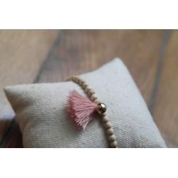 Bracelet pompon poudre
