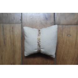 Bracelet/collier rose pâle