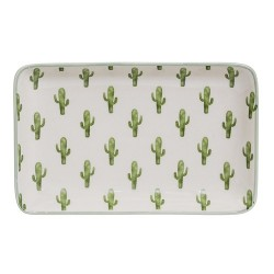 Assiette Cactus rectangle