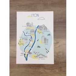 Affiche Lyon - bleu