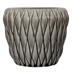 Pot de fleurs gris