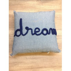 coussin chambray DREAM MARINE