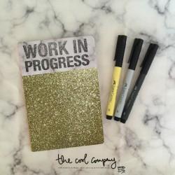"""Carnet """"Work in progress"""""""