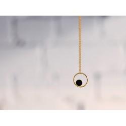 Collier Gallica ring - Noir