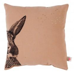 Coussin tête de lapin Peter - Litchi