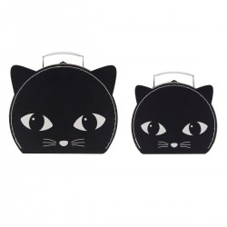 Set de 2 valises Chats