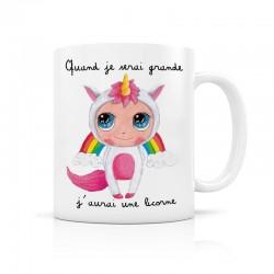 Mug J'aurai une licorne