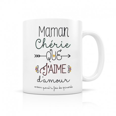 Mug Maman chérie que j'aime d'amour