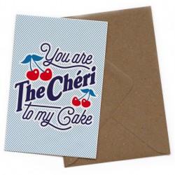 Carte postale The chéri to my cake