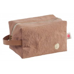 Pochette zippée cube litchi