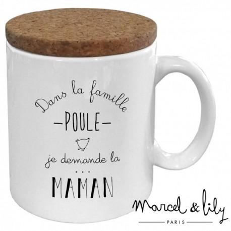 """Mug avec couvercle """"Maman poule"""""""