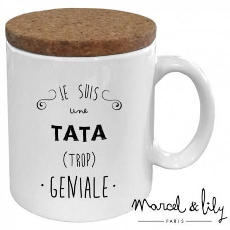 Mug avec couvercle Tata trop géniale
